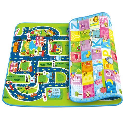 寶貝家 歡樂城市+字母薄款雙面攜帶遊戲墊/地墊(BT0042U)