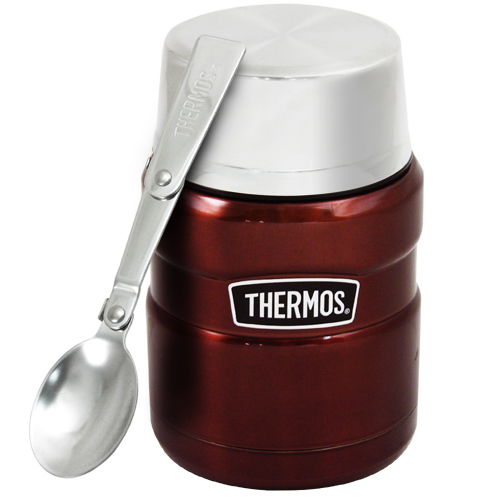 THERMOS膳魔師 不鏽鋼真空保溫杯瓶470ml-咖啡紅CP6【SK3000】(MF0121K)