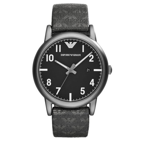 EMPORIO ARMANI/AR1834典藏灰時尚腕錶/灰黑面41mm