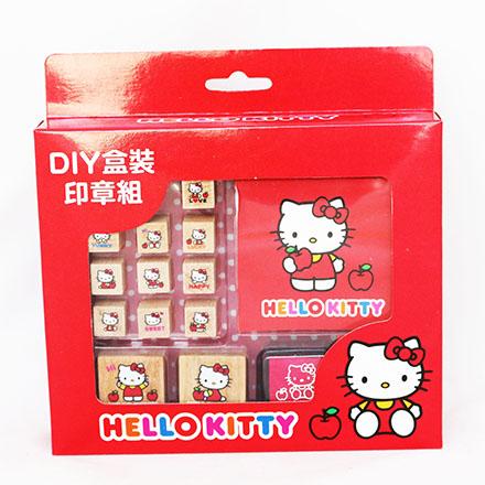 【敵富朗超巿】KITTY二代DIY盒裝印章組