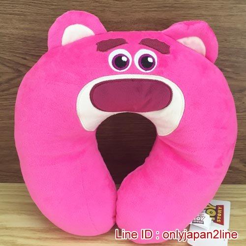 【真愛日本】16120300004造型頸枕-熊抱哥  迪士尼 玩具總動員 TOY 頸枕 枕頭 居家用品 汽車用品