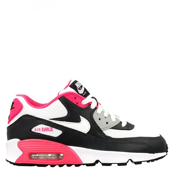 【EST S】Nike Air Max 90 Mesh Gs 833340-001 慢跑鞋 黑白粉紅 G1111