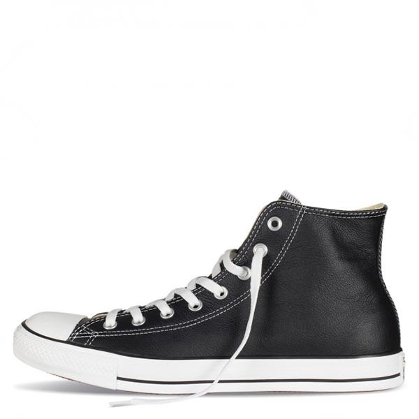【EST S】Converse Chuck Taylor Leather 132170C 高筒 荔枝皮 黑白 G1118