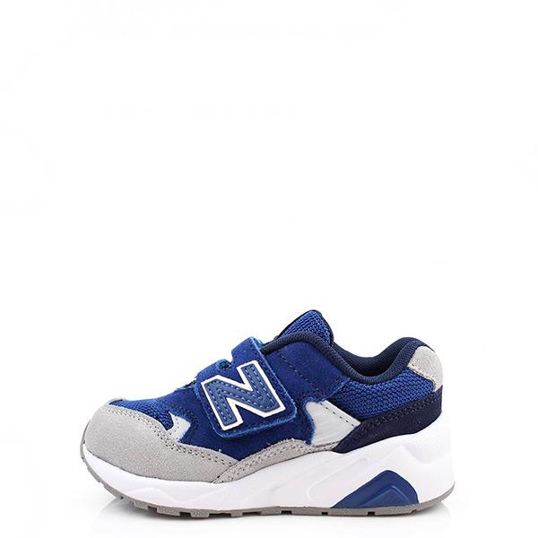 【EST S】New Balance 580系列 KV580LEP 魔鬼氈運動鞋 藍灰 中童鞋 G1125