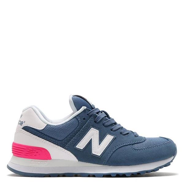 【EST S】New Balance WL574CNB 574 麂皮 復古 慢跑鞋 藍粉 女鞋 H0112