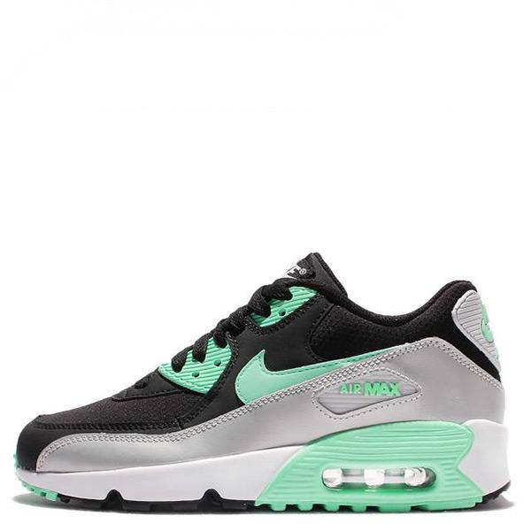 【EST S】Nike Air Max 90 Mesh 833340-003 慢跑鞋 黑銀綠 蒂芬妮綠 大童鞋 G1116