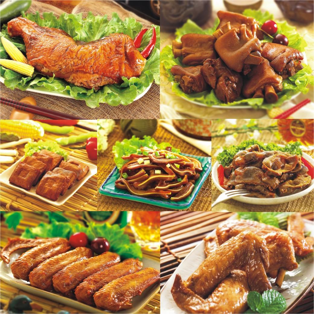 【紅麴滷味組】老道老枝金澎派七件組|快速美味|真空包裝|冷熱皆可食|送禮|免運