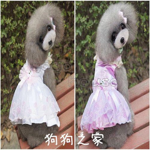 ☆狗狗之家☆珍珠領 蝴蝶結 ?紗 蕾絲 禮服