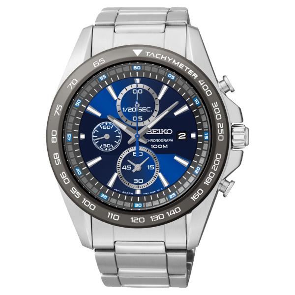 Seiko Spirit 7T92-0RK0B(SNDF73P1)都會湛藍計時腕錶/藍面44mm