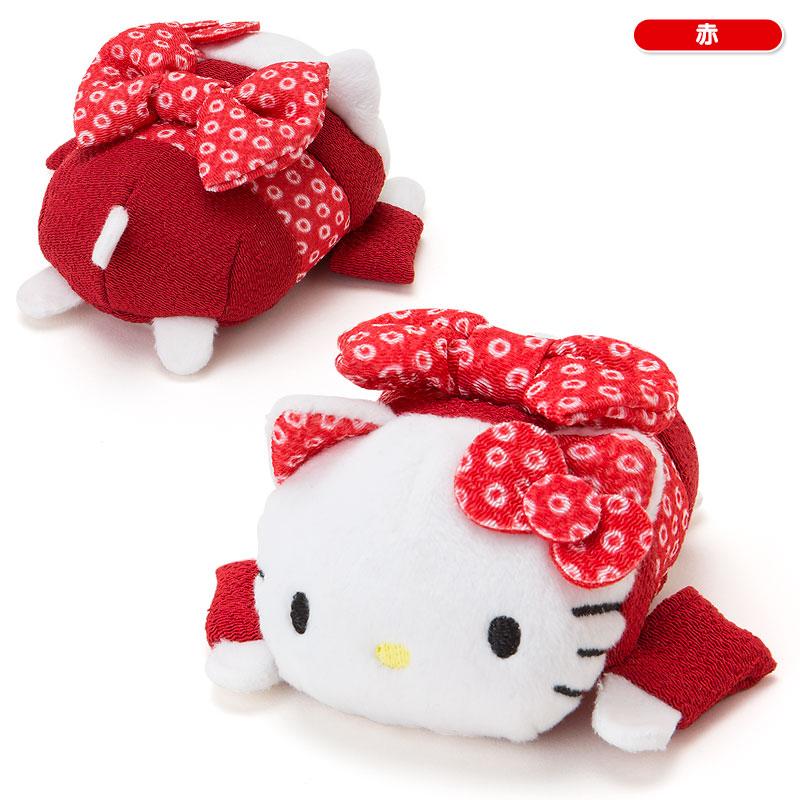 【真愛日本】15092400018茲姆茲姆娃S-KT和服紅 三麗鷗 Hello Kitty 凱蒂貓  茲姆娃 娃娃 擺飾 凱蒂貓