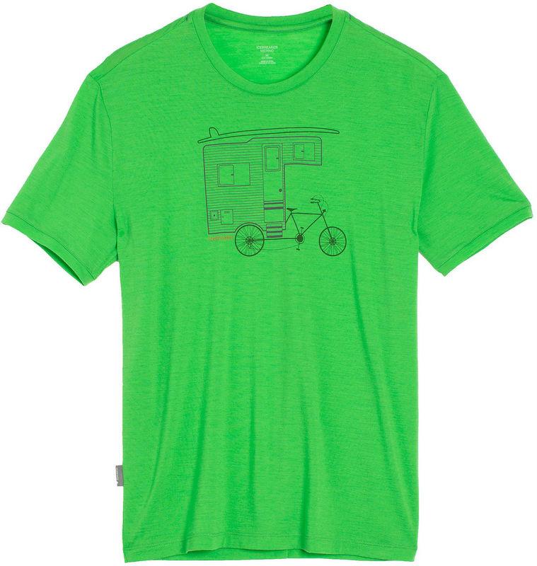 Icebreaker 排汗衣/短袖T恤/美麗諾羊毛 Tech Lite 男圓領短袖上衣103281-301 露營單車綠