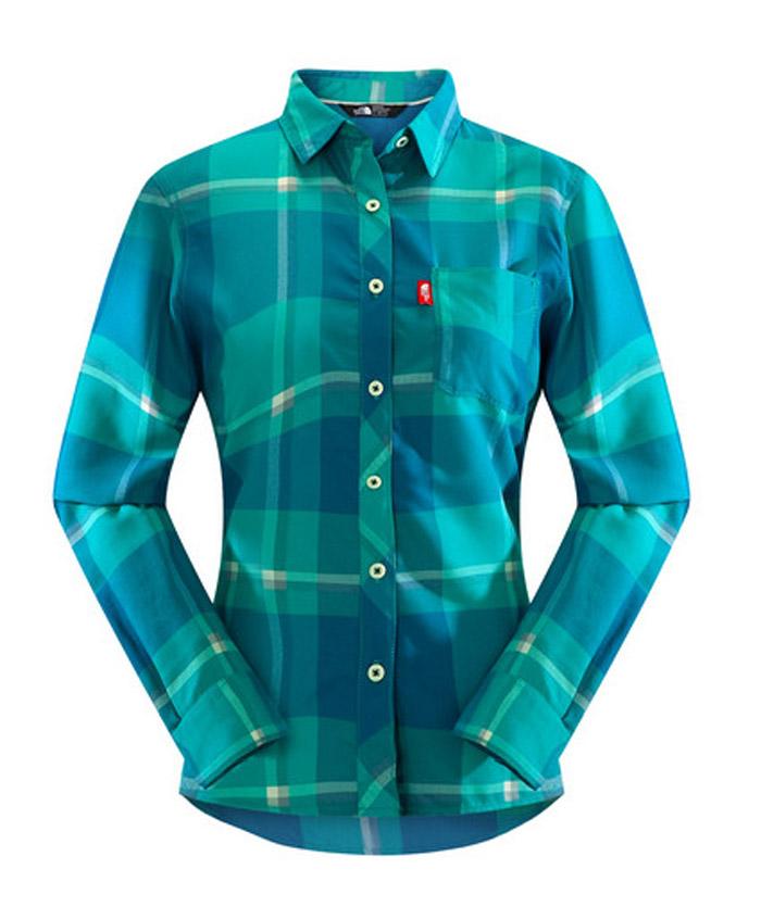 【鄉野情戶外專業】 The North Face |美國| 快乾長袖襯衫 辦公 休閒 女款--藍/綠 CNH0DLB