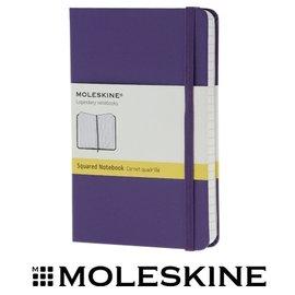 義大利 MOLESKINE 66136439 彩色方格筆記本/ 紫 /P