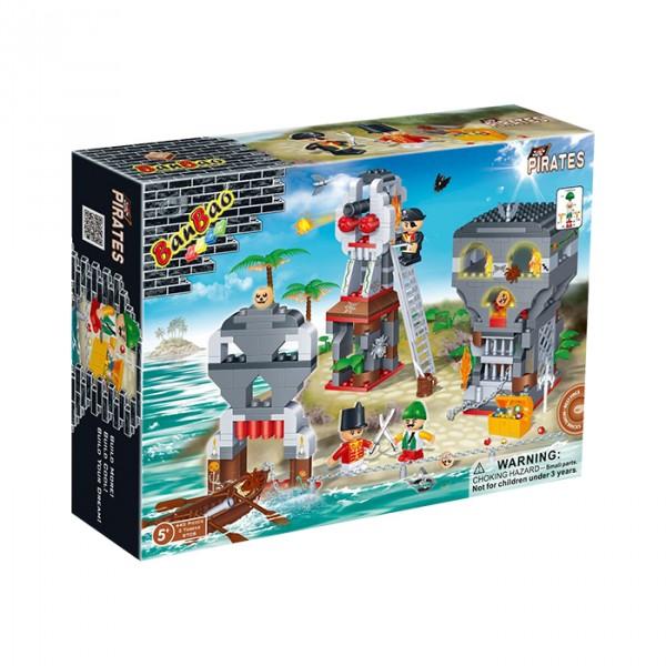 【BanBao 積木】海盜系列-海賊島 8708 (樂高通用) (單筆訂單購買再加送積木拆解器一個)