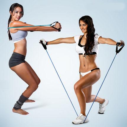 PS Mall 一字拉力繩 彈力繩 拉力器 拉力帶 彈力帶 擴胸器 拉繩 擴胸繩 瑜珈伸展帶【H331】