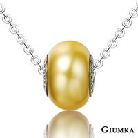 【GIUMKA】繽紛世界德國精鋼水晶元素項鍊 採用施華洛世奇水晶元素 水晶烤漆 滾輪造型設計 黃色/單個價格 MN01609-7