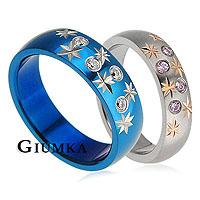 【GIUMKA】星光戀情戒指 男女情人對戒鋼戒指藍+銀/一對價格