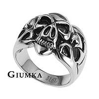 【GIUMKA】個性骷髏頭鋼戒 316L鋼戒指 街頭嘻哈風/單個價格