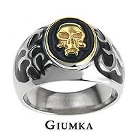 【GIUMKA】金色骷髏頭鋼戒 316L鋼戒指 街頭嘻哈風/單個價格