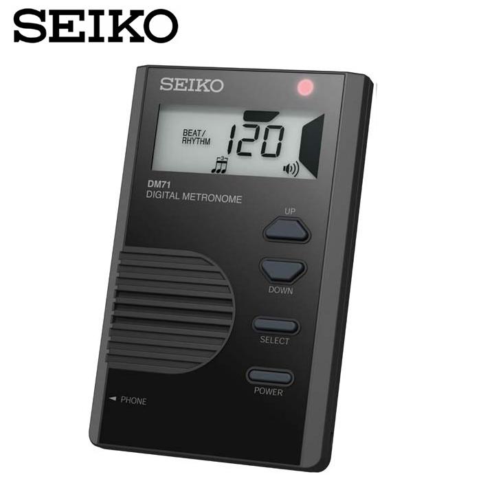 【非凡樂器】【黑色】SEIKO 液晶顯示名片型節拍器DM71/名片型節拍器/輕巧方便好帶