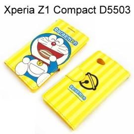 Doraemon 側翻支架皮套 [黃] SONY Xperia Z1 Compact M51w D5503 (Z1 mini) 哆啦A夢 小叮噹【台灣正版授權】