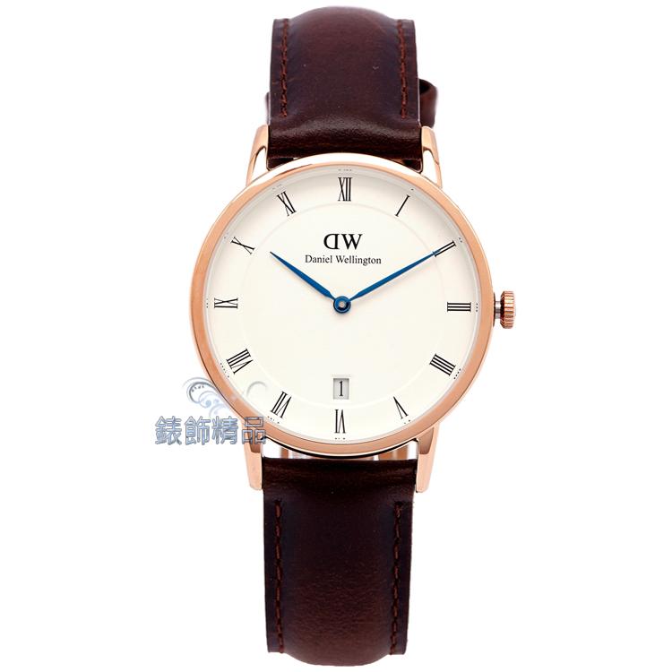 【錶飾精品】現貨Daniel Wellington瑞典DW手錶 DW00100094/1133DW Dapper Bristol 34mm 玫瑰金 女錶 全新原廠正品
