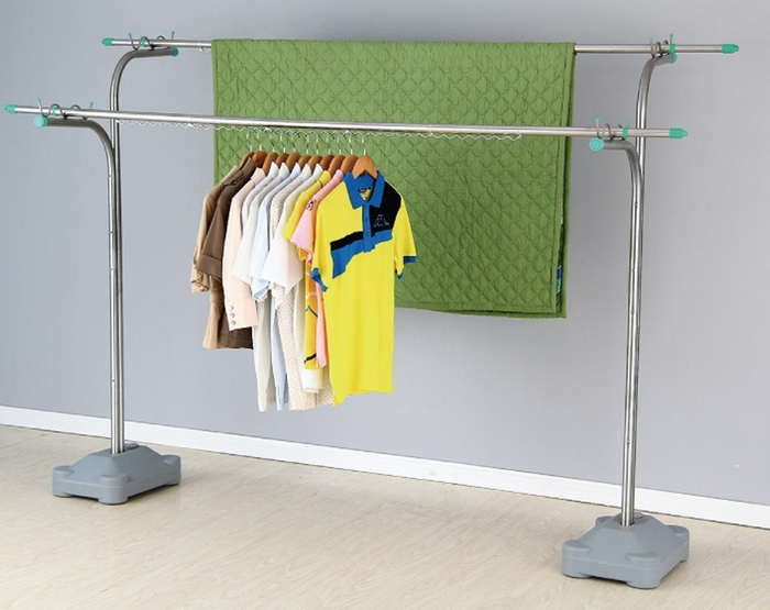 優質不鏽鋼重型超大容量曬衣架 JY-0408C