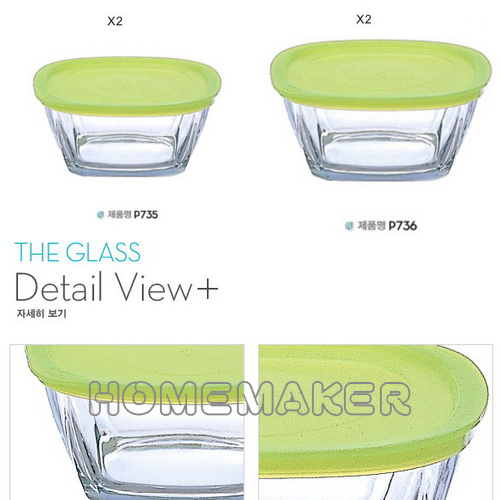 【THE GLASS】 4入玻璃保鮮盒禮盒組 TG-GPDPOAA