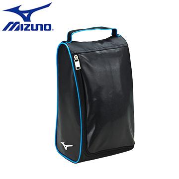 1FTK610309〈黑X水藍〉輕量防水立體紋皮革 新版型鞋袋【美津濃MIZUNO】