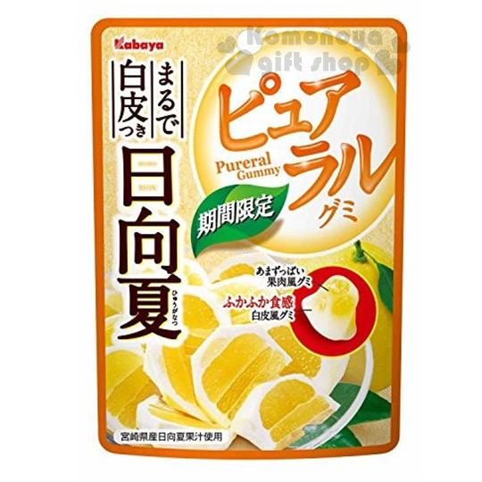〔小禮堂〕日本原產 卡巴日向夏KABAYA 軟糖《50g》橘子口味.10%增量