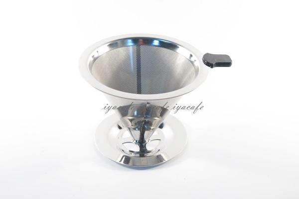 《愛鴨咖啡》V60 V02 錐形 不鏽鋼過濾網 免濾紙濾網 附支撐座 手沖咖啡 美式咖啡