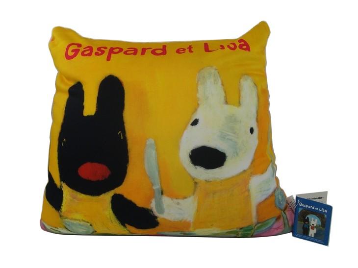 Gaspard et Lisa造型顆粒抱枕/午安枕/靠枕(大)