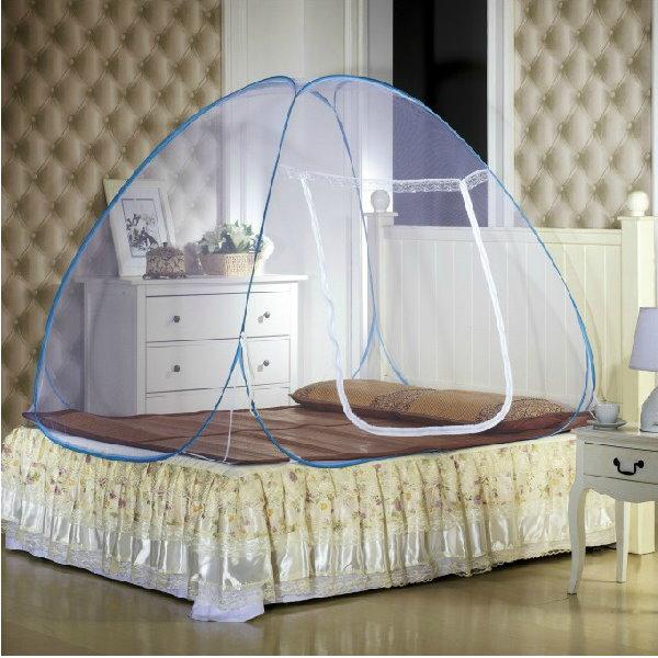 1.0米 經濟版蚊帳蒙古包蚊帳學生有底免安裝拉鏈魔術蚊帳 適合上下舖