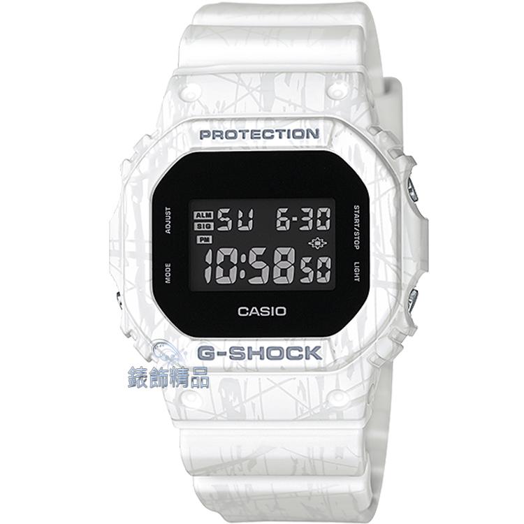 【錶飾精品】現貨CASIO卡西歐G-SHOCK刀削白DW-5600銳利線條DW-5600SL-7DR 全新原廠正品 生日 情人節 禮物 禮品