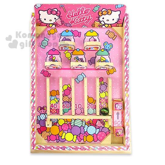 〔小禮堂嬰幼館〕Hello Kitty 木製彈珠台玩具《粉.糖果》適合3歲以上兒童