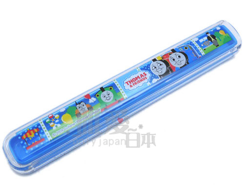 ~*唯愛日本*~C1031800018 THOMAS & FRIENDS 湯瑪士 小火車 日製收納筷盒 收納盒 筷子日本製