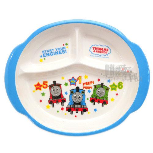 ~*唯愛日本*~B11060900022 THOMAS & FRIENDS 湯瑪士 小火車 圓形雙耳三格盤-與朋友 台灣製