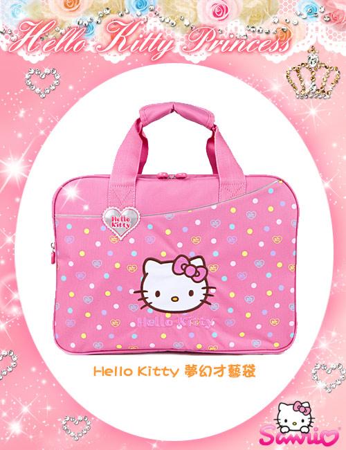 <唯愛日本>12110100036 KT*IM學藝袋-粉 三麗鷗 Hello Kitty 凱蒂貓 補習帶 提袋 手提包