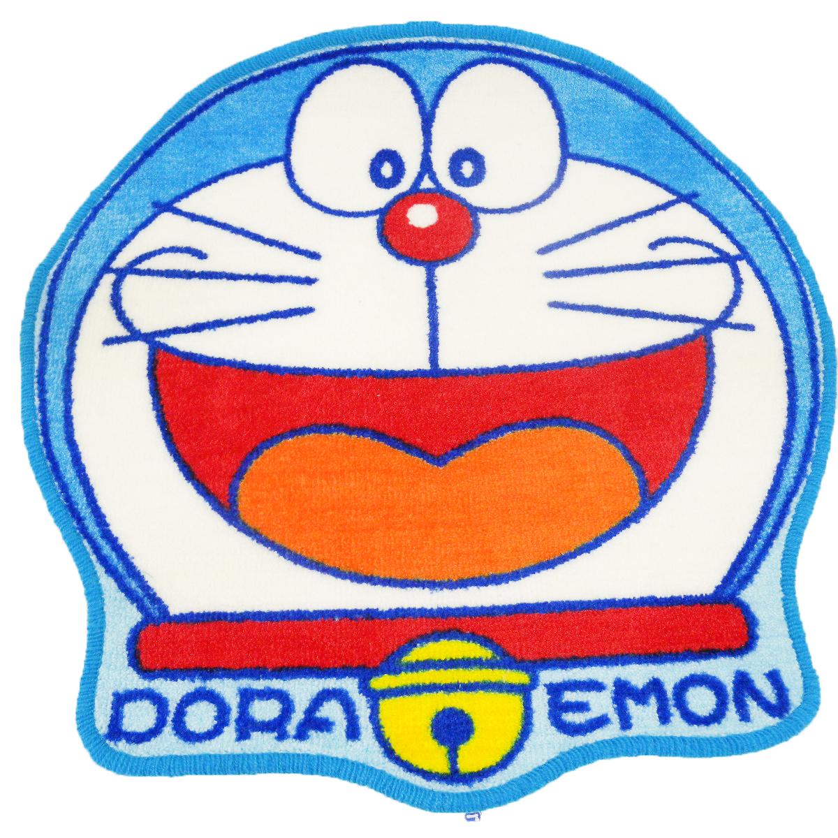 【真愛日本】14092900001 造型止滑地墊-大臉開嘴笑  Doraemon 哆啦A夢 小叮噹 墊子 踩踏墊
