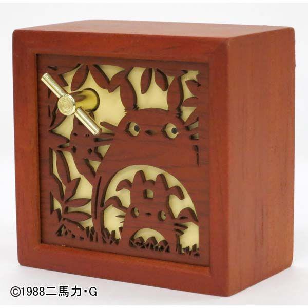 【真愛日本】14100600005 音樂鈴-木製窗花龍貓 龍貓 TOTORO 豆豆龍 音樂盒 玩具 擺飾 裝飾