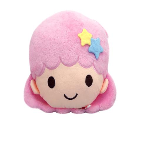 【真愛日本】14111900002 頭型抱枕-LALA粉XL 三麗鷗家族 Kikilala 雙子星 抱枕 枕頭 靠枕 墊枕