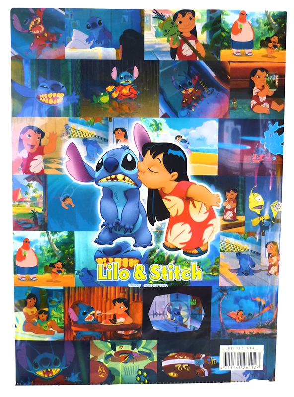 【唯愛日本】15021400021 A4文件夾-史迪奇電影版 迪士尼 星際寶貝 史迪奇 文具 正品 限量