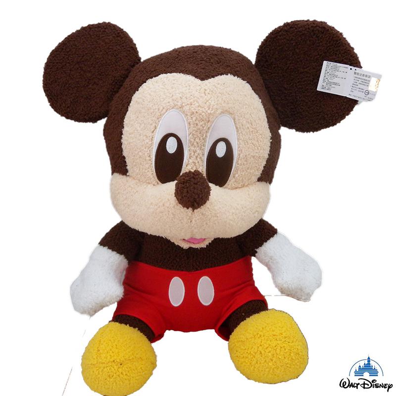 【真愛日本】15031000020 45CM長毛坐娃-米奇 迪士尼 米老鼠米奇 米妮 娃娃 玩偶 正品 限量