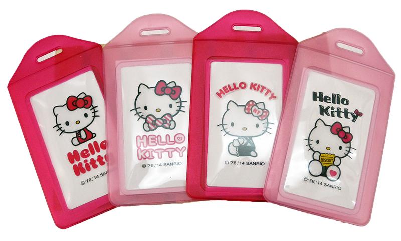 【真愛日本】15040300004 KT果凍證件套4款 三麗鷗 Hello Kitty 凱蒂貓 名片套 正品 隨機出貨