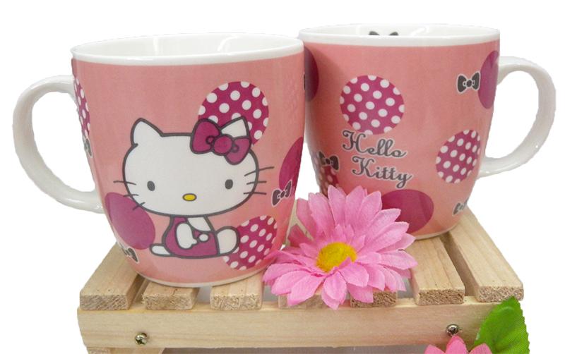 【真愛日本】15040300019 馬克杯-復古紅圓點 三麗鷗 Hello Kitty 凱蒂貓 杯子 茶杯 水杯 正品 限量