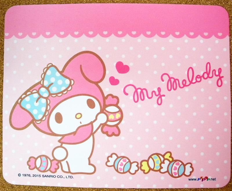 【真愛日本】15040900003彈性滑鼠墊-MM糖果 三麗鷗家族 Melody 美樂蒂 電腦周邊 正品 限量