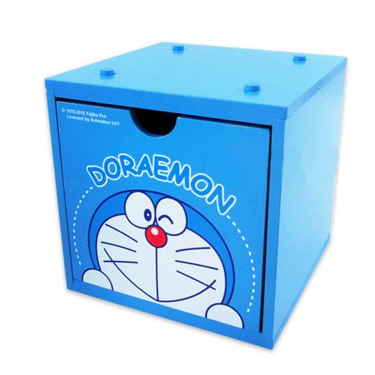 【真愛日本】15051800030 積木收納盒-眨眼 Doraemon 哆啦A夢 小叮噹 居家 收納 正品 限量 預購