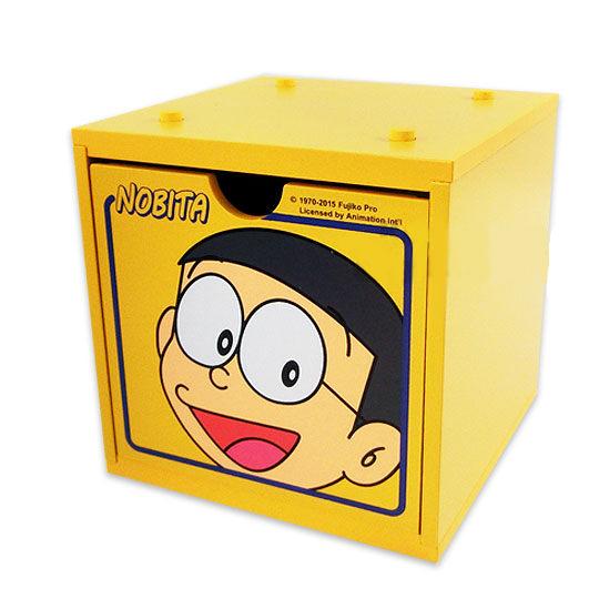 【真愛日本】15051800031 積木收納盒-大雄 Doraemon 哆啦A夢 小叮噹 居家 收納 正品 限量