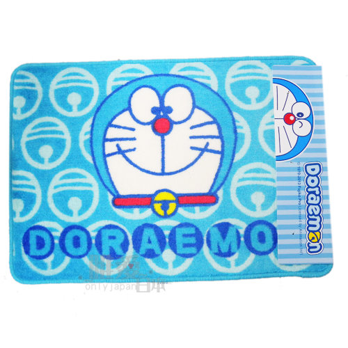 【唯愛日本】13111400017 短毛長方地墊-鈴鐺大頭 Doraemon 哆啦A夢 小叮噹 腳踏墊 寢具用品