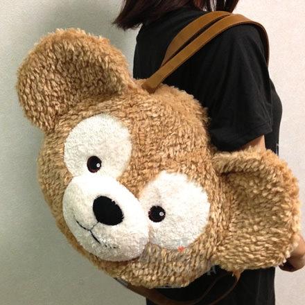 【真愛日本】14082700013經典頭型肩側背包袋-達菲大臉new Duffy 達菲熊&ShellieMay 斜背包 手提包